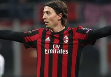Riccardo Montolivo during Milan-Ludogorets at Stadio San Siro on February 22, 2018. (Photo by Marco Luzzani/Getty Images)