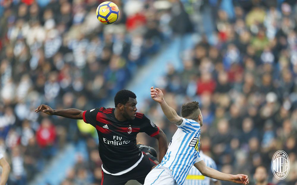 Franck Kessié during SPAL-Milan at at Stadio Paolo Mazza on February 10, 2018. (@acmilan.com)