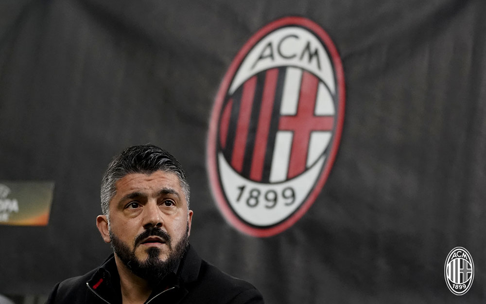 Gennaro Gattuso during Milan-Ludogorets at Stadio San Siro on February 22, 2018. (@acmilan.com)