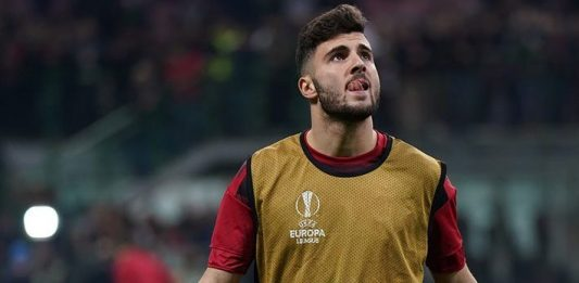 Patrick Cutrone before Milan-Arsenal at Stadio San Siro on March 8, 2018. (@acmilan.com)
