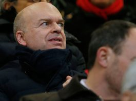 Marco Fassone during Milan-Inter at Stadio San Siro on December 27, 2017. (@acmilan.com)