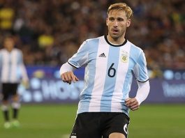 Lucas Biglia during Brazil-Argentina at Melbourne Cricket Ground on June 9, 2017 in Melbourne, Australia. (Photo by Robert Cianflone/Getty Images)