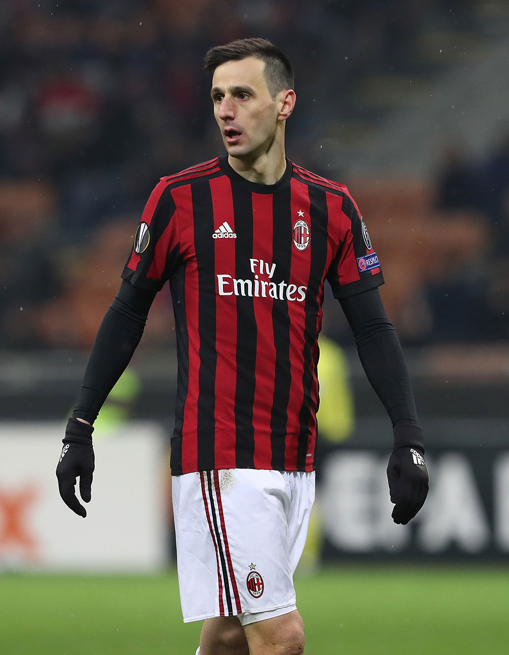 Nikola Kalinić during Milan-Ludogorets at the San Siro on February 22, 2018. (Photo by Marco Luzzani/Getty Images)