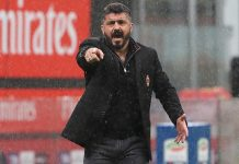 Gennaro Gattuso during Milan-Chievo at Stadio San Sro on March 18, 2018. (Photo by Marco Luzzani/Getty Images)