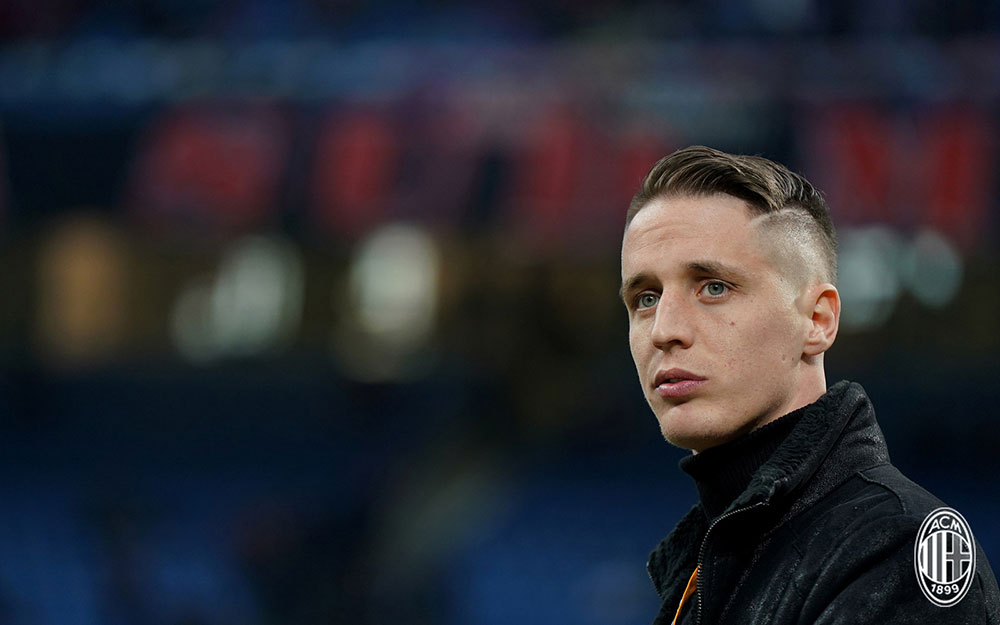 Andrea Conti before Milan-Arsenal at Stadio San Siro on March 8, 2018. (@acmilan.com)