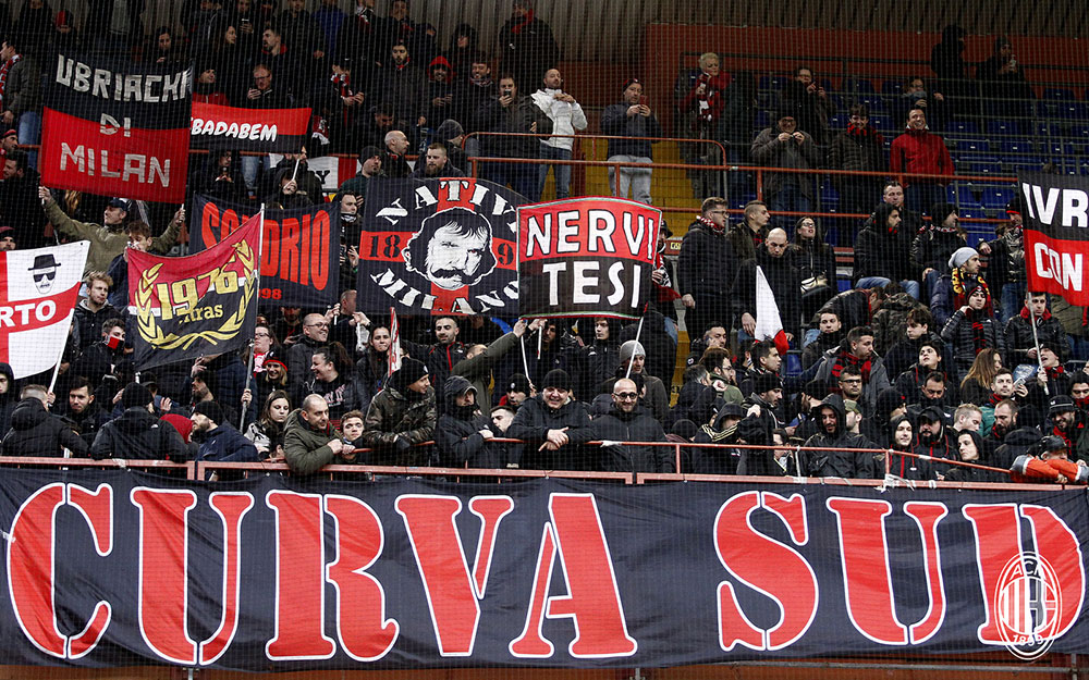 The Milan Curva Sud during Genoa-Milan at Stadio Luigi Ferraris on March 11, 2018. (@acmilan.com)
