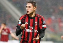 Davide Calabria during Milan-Inter at Stadio San Siro on April 4, 2018. (@acmilan.com)