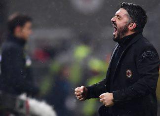 Gennaro Gattuso during Milan-Bologna at Stadio San Siro on December 10, 2017. (MARCO BERTORELLO/AFP/Getty Images)