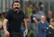 Gennaro Gattuso during Milan-Benevento at Stadio San Siro on April 21, 2018. (Photo by Emilio Andreoli/Getty Images)
