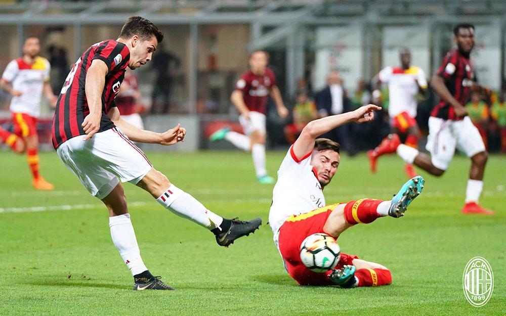 André Silva during Milan-Benevento at Stadio San Siro on April 21, 2018. (@acmilan.com)