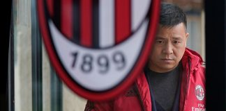Yonghong Li at Milanello on March 5, 2018. (@acmilan.com)