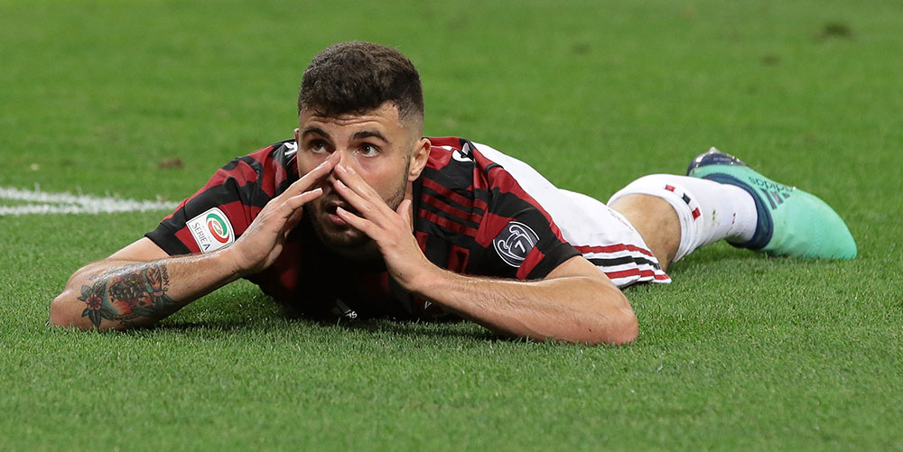 Patrick Cutrone during Milan-Benevento at Stadio San Siro on April 21, 2018. (Photo by Emilio Andreoli/Getty Images)
