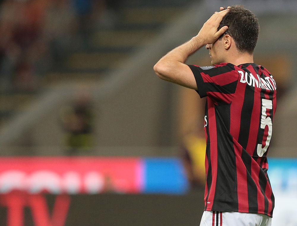 Giacomo Bonaventura during Milan-Benevento at Stadio San Siro on April 21, 2018. (Photo by Emilio Andreoli/Getty Images)