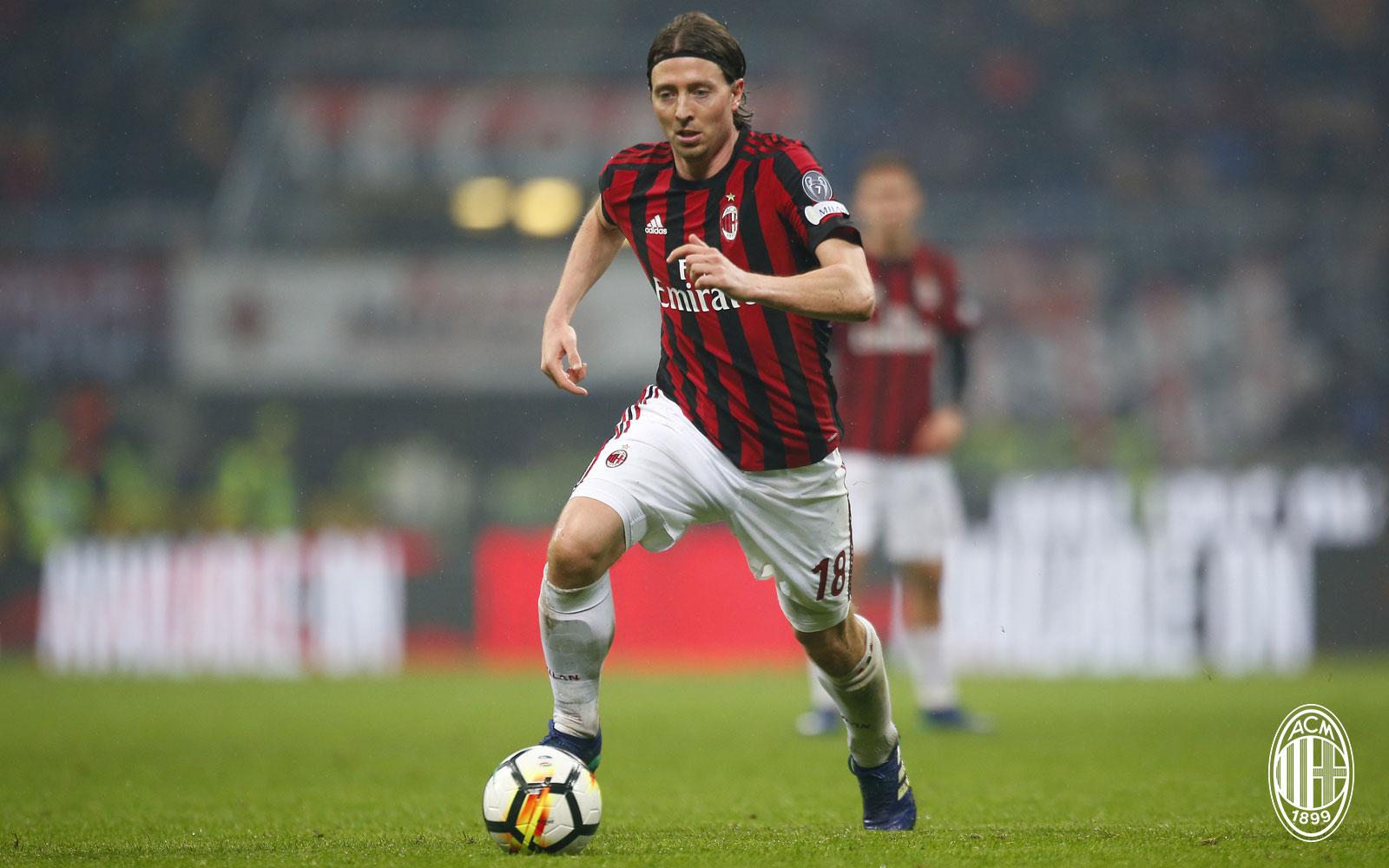 Riccardo Montolivo during Milan-Inter at Stadio San Siro on April 4, 2018. (@acmilan.com)
