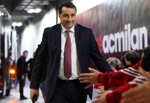 Massimiliano Mirabelli before Milan-Napoli at Stadio San Siro on April 14, 2018. (@acmilan.com)