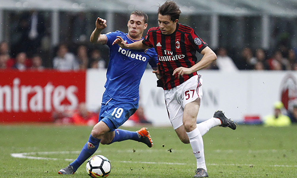 Emanuele Torrasi during  Milan-Fiorentina at Stadio San Siro on May 20, 2018. (@acmilan.com)
