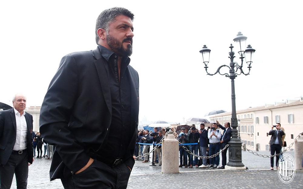 Gennaro Gattuso in Rome on May 8, 2018. (@acmilan.com)