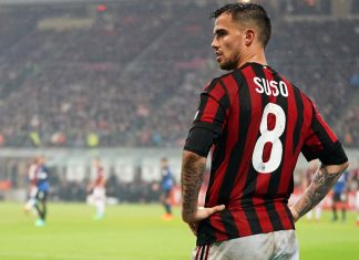 Suso during Milan-Inter at Stadio San Siro on April 4, 2018. (@acmilan.com)