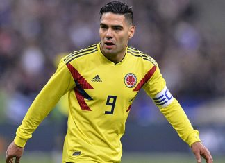 Radamel Falcao during France-Colombia at Stade de France on March 23, 2018. (Photo by Aurelien Meunier/Getty Images)