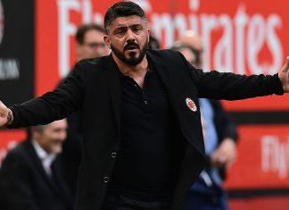 Gennaro Gattuso during Milan-Hellas Verona at Stadio San Siro on May 5, 2018. (MIGUEL MEDINA/AFP/Getty Images)