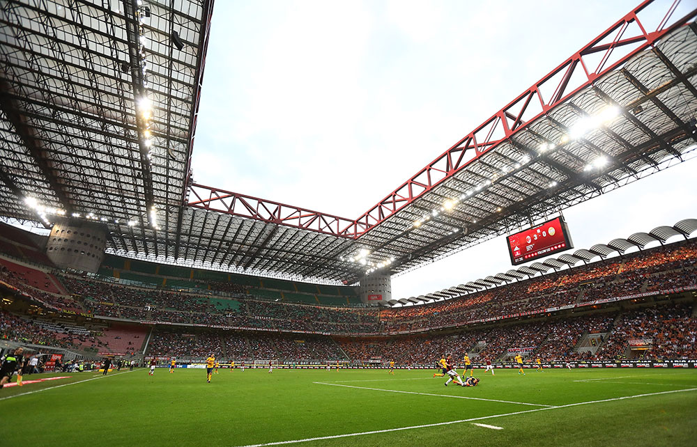 Stadio San Siro during Milan-Hellas Verona on May 5, 2018. (Photo by Marco Luzzani/Getty Images)