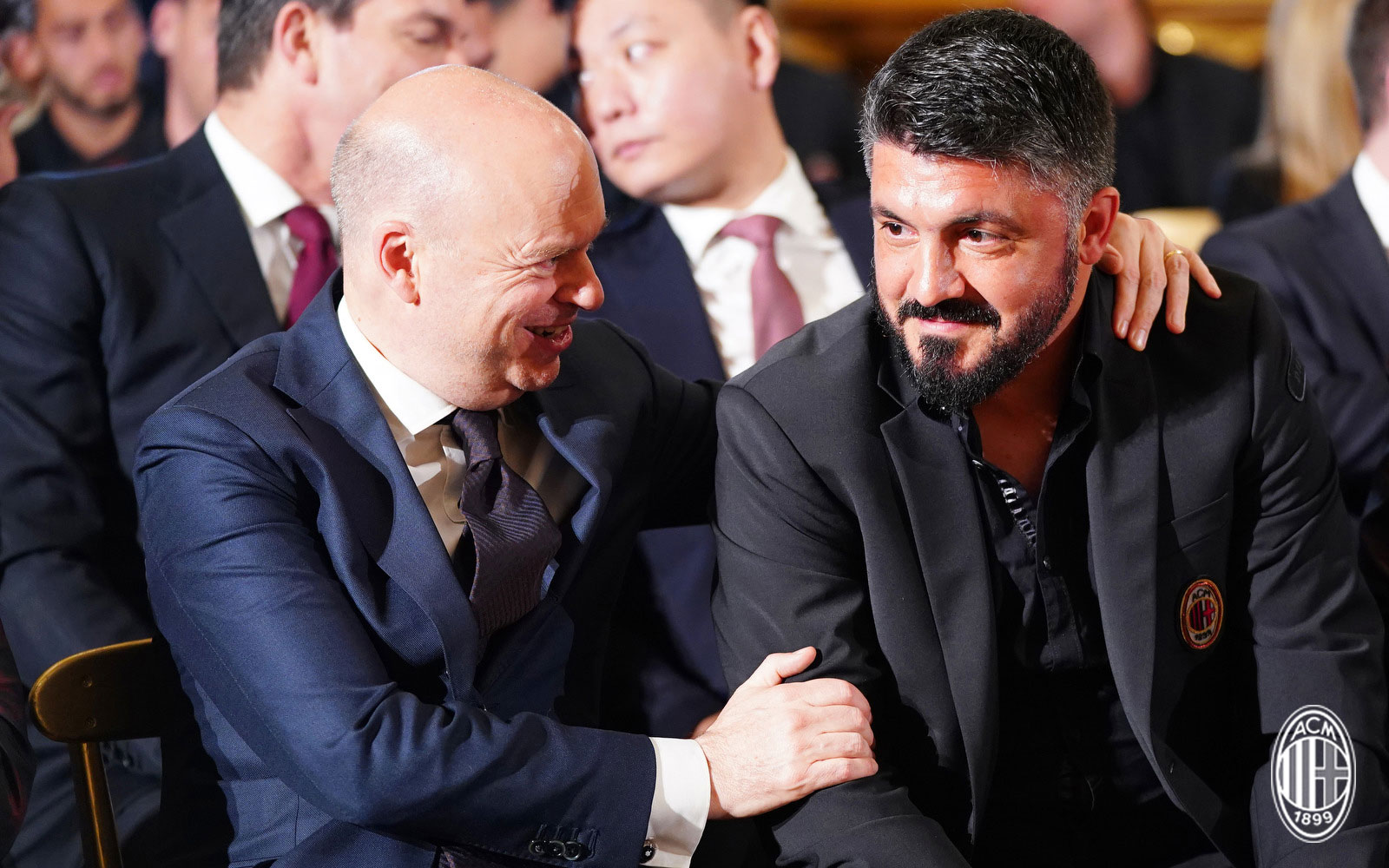 Marco Fassone and Gennaro Gattuso in Rome on May 8, 2018. (@acmilan.com)