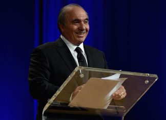 Rocco B. Commisso speaks on stage at the 32nd Annual Walter Kaitz Foundation Fundraising Dinner Hosted By TV One at Marriott Marquis Times Square on September 30, 2015 in New York City. (Photo by Larry Busacca/Getty Images for Walter Kaitz)