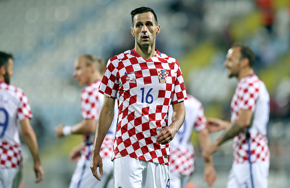 Nikola Kalinić during Croatia-San Marino on June 4, 2016 in Rijeka. (STR/AFP/Getty Images)
