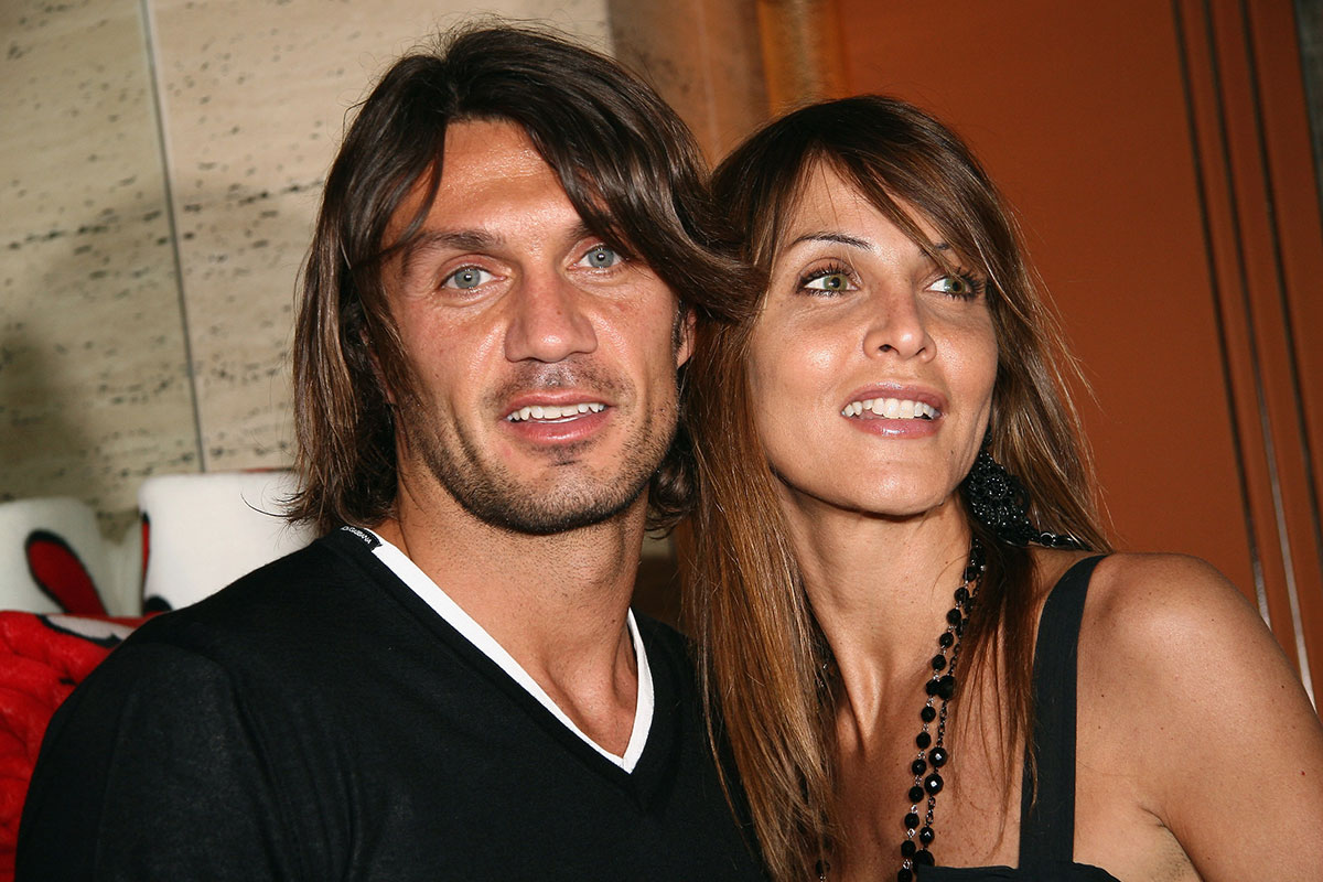 Paolo Maldini and wife Adriana Fossa attending the Sweet Years Homewear Launch held at Park Hyatt Hotel on May 5, 2008 in Milan, Italy. (Photo by Vittorio Zunino Celotto/Getty Images)
