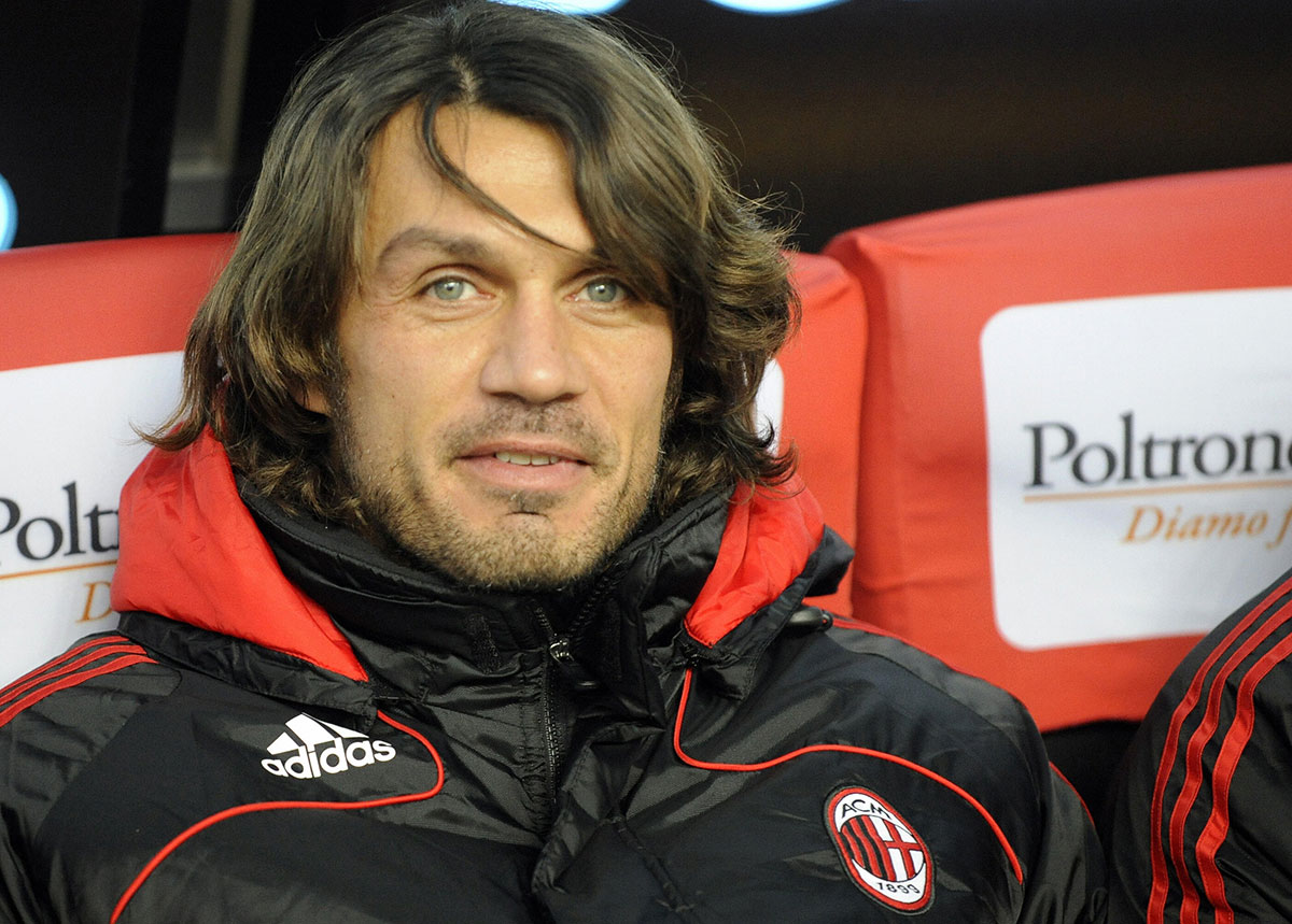 Paolo Maldini before Milan-Lazio at Stadio San Siro on December 3, 2008. (DAMIEN MEYER/AFP/Getty Images)