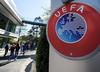 The UEFA headquarters in Nyon on April 20, 2018. (FABRICE COFFRINI/AFP/Getty Images)
