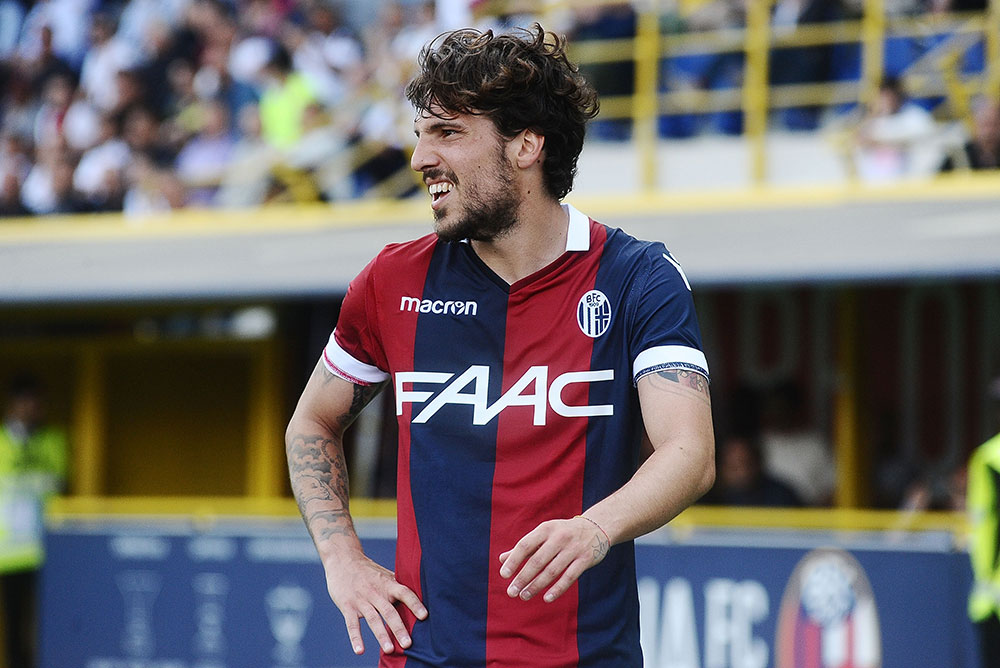 Simone Verdi during Bologna-Milan at Stadio Renato Dall'Ara on April 29, 2018. (Photo by Mario Carlini / Iguana Press/Getty Images)