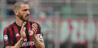 Leonardo Bonucci during Milan-Fiorentin at Stadio San Siro on May 20, 2018. (Photo by Emilio Andreoli/Getty Images)