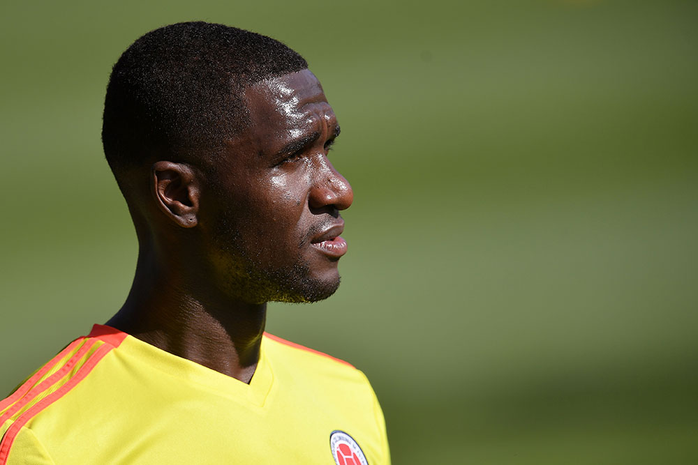 Cristian Zapata during Colombia training session at Milanello on May 29, 2018. (MARCO BERTORELLO/AFP/Getty Images)