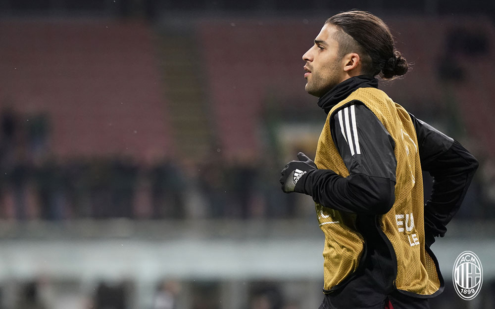 Ricardo Rodriguez before Milan-Ludogorets at Stadio San Siro on February 22, 2018. (@acmilan.com)