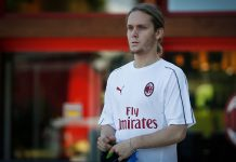 Alen Halilović at training center Milanello on July 7, 2018. (@acmilan.com)