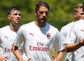 Manuel Locatelli during training at Milanello. (@acmilan.com)