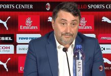 Massimiliano Mirabelli during a press conference at Casa Milan on July 9, 2018. (@acmilan.com)