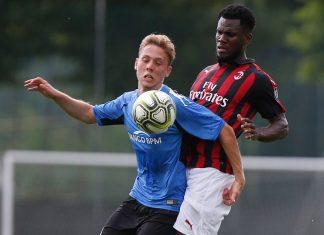 Franck Kessié during Milan-Novara at training center Milanello on July 20, 2018. (@acmilan.com)