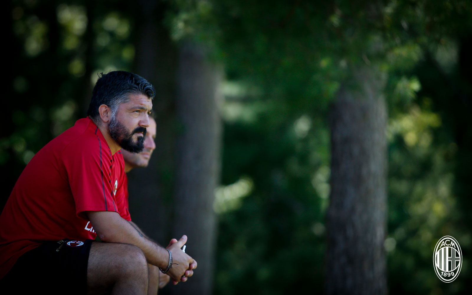 Gennaro Gattuso during training at Milanello. (@acmilan.com)