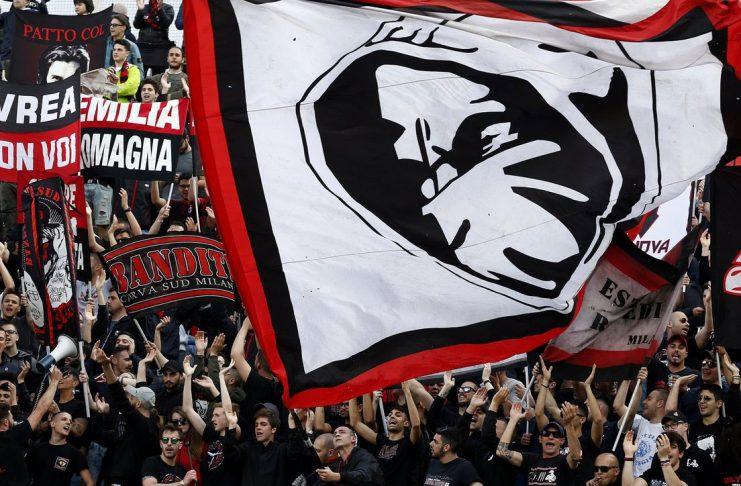 Milan fans during Atalanta-Milan at Stadio Atleti Azzurri d'Italia on May 13, 2018. (@acmilan.com)