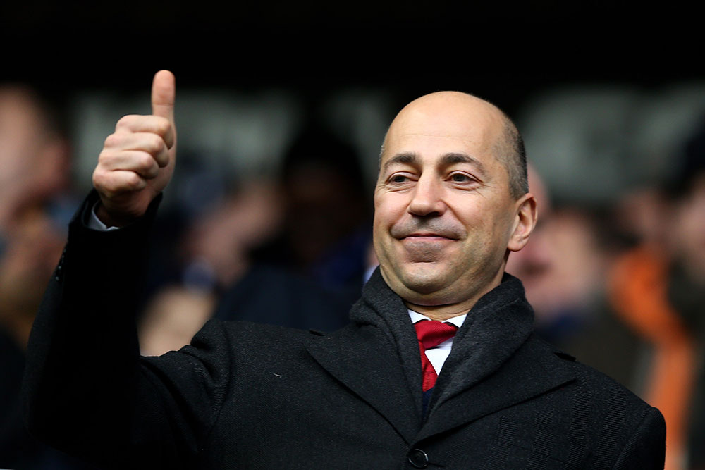 Ivan Gazidis during Tottenham Hotspur-Arsenal at White Hart Lane on March 3, 2013. (Photo by Paul Gilham/Getty Images)