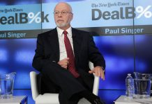 Elliot Management Corporation Founder and President, Paul Singer, speaking onstage during The New York Times DealBook Conference at One World Trade Center on December 11, 2014 in New York City. (Photo by Thos Robinson/Getty Images for New York Times)