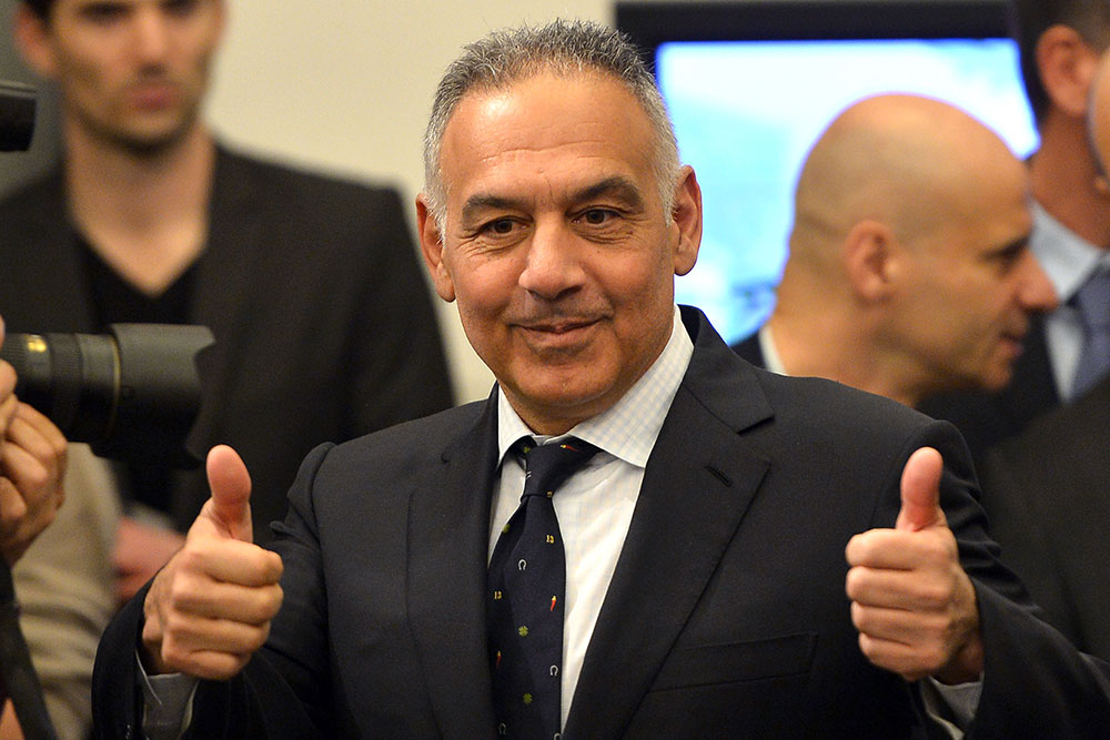 James Pallotta during a Roma during a press conference on March 26, 2014. (GABRIEL BOUYS/AFP/Getty Images)