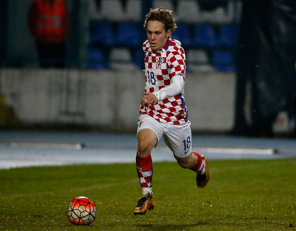 Alen Halilović during Croatia-Israel at Stadion Gradski vrt on March 23, 2016 in Osijek, Croatia. (Photo by Srdjan Stevanovic/Getty Images)
