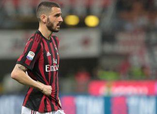 Leonardo Bonucci during Milan-Benevento at Stadio San Siro on April 21, 2018. (Photo by Emilio Andreoli/Getty Images)