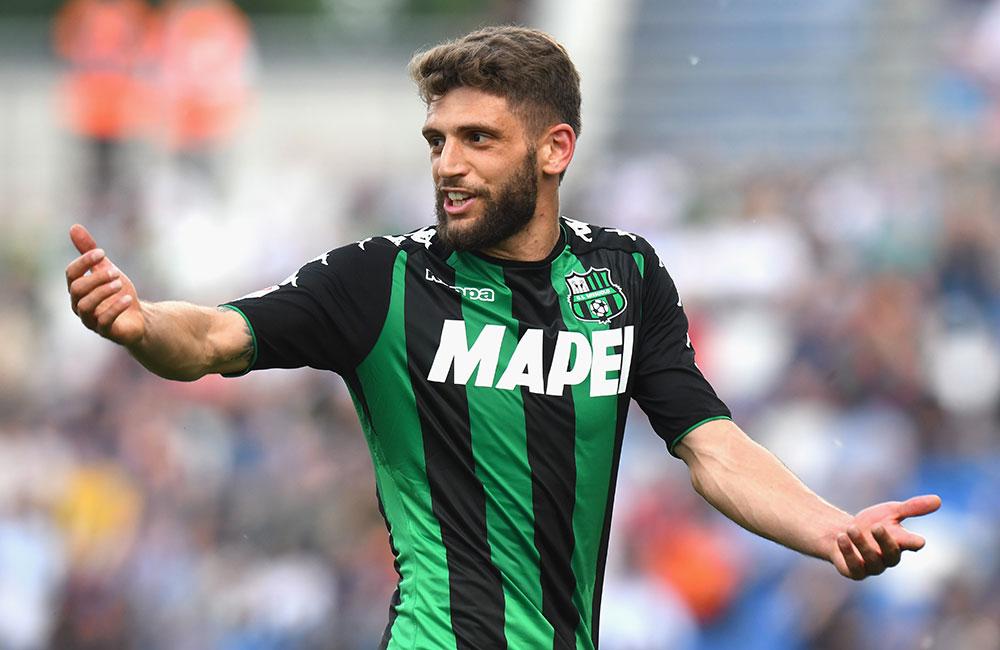 Domenico Berardi during Sassuolo-Sampdoria at Mapei Stadium - Citta' del Tricolore on May 6, 2018. (Photo by Alessandro Sabattini/Getty Images)