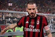 Leonardo Bonucci at the end of the Juventus-Milan Coppa Italia final at Stadio Olimpico on May 9, 2018. (ISABELLA BONOTTO/AFP/Getty Images)