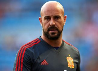 Pepe Reina before Spain-Switzerland at Estadio de La Ceramica on June 3, 2018 in Villareal, Spain. (Photo by Manuel Queimadelos Alonso/Getty Images)