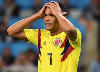 Carlos Bacca after failing to score in the penalty shootout during the Colombia-England Russia 2018 World Cup round of 16 match at the Spartak Stadium in Moscow on July 3, 2018. (YURI CORTEZ/AFP/Getty Images)